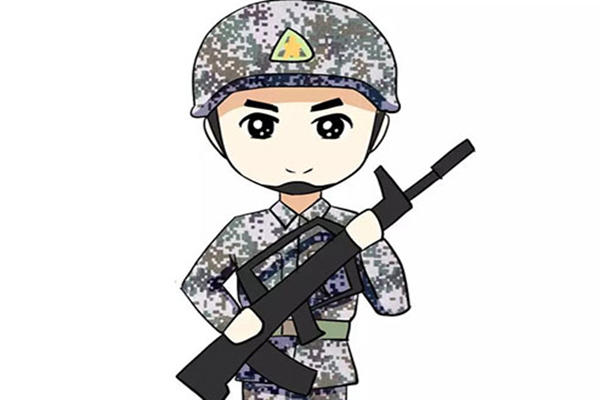 兵哥哥站岗动画图片
