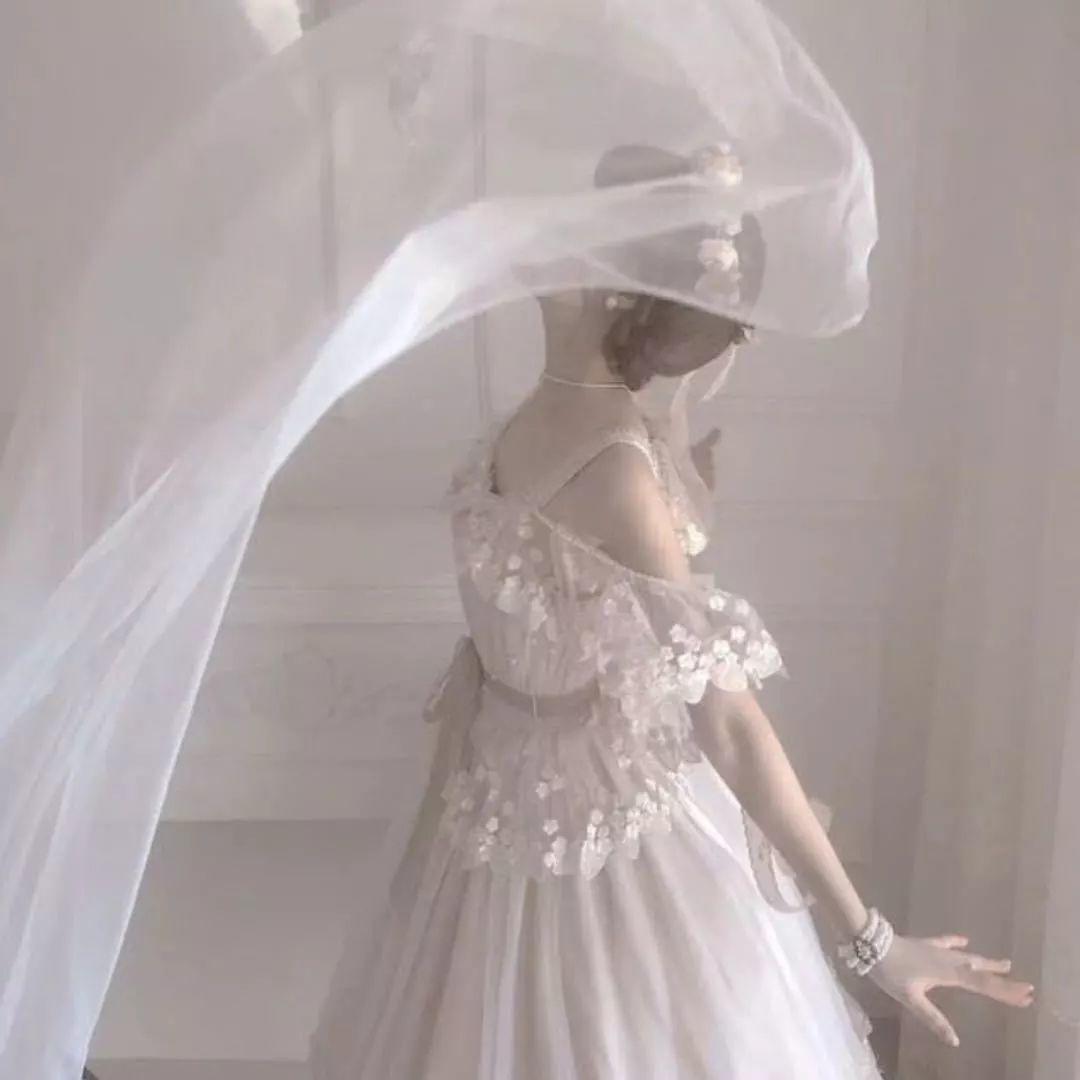 高清女生婚纱头像