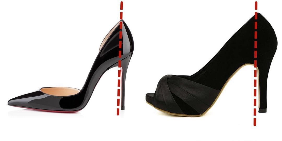 高跟鞋弯曲程度