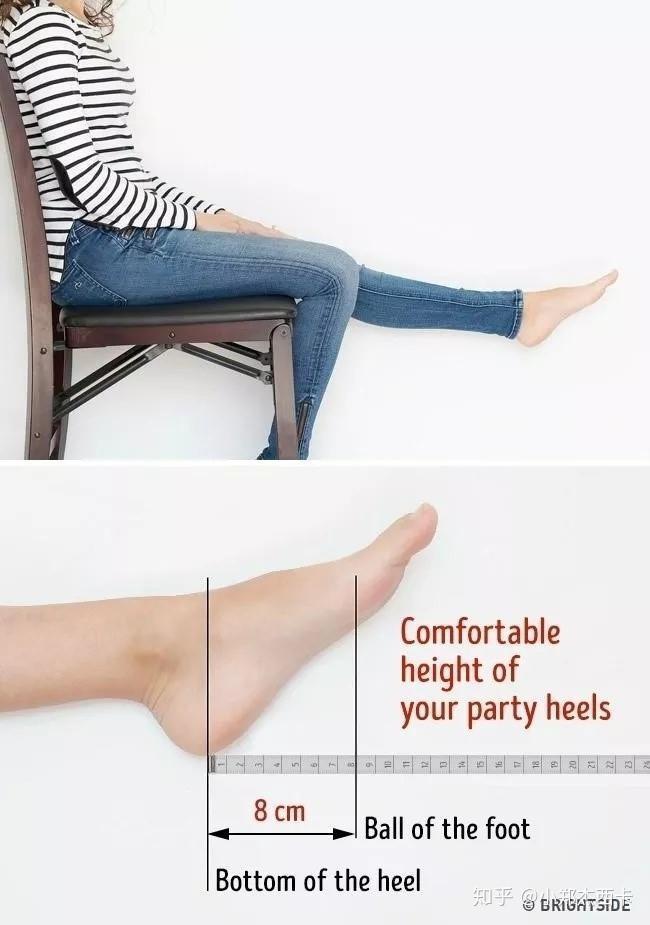 测量鞋跟高度的方法
