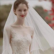 新娘穿婚纱的头像 身披白纱岁月从此都温柔