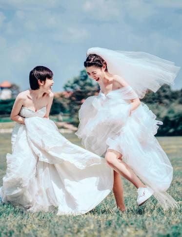 闺蜜婚纱照