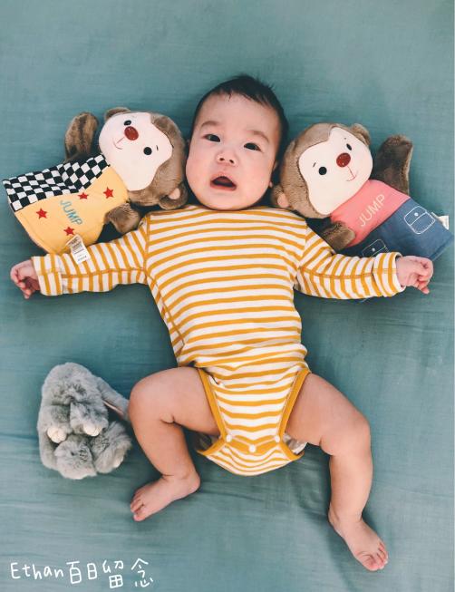 宝宝百日照的创意图片