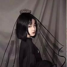 黑色复古婚纱头像