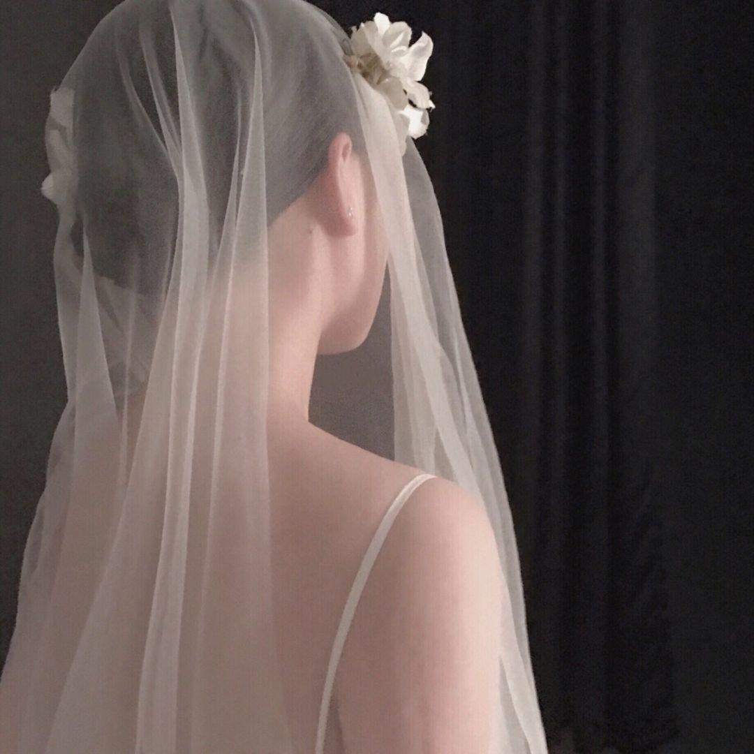 女生婚纱背景头像