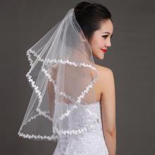 时尚简约大气短款白色头纱