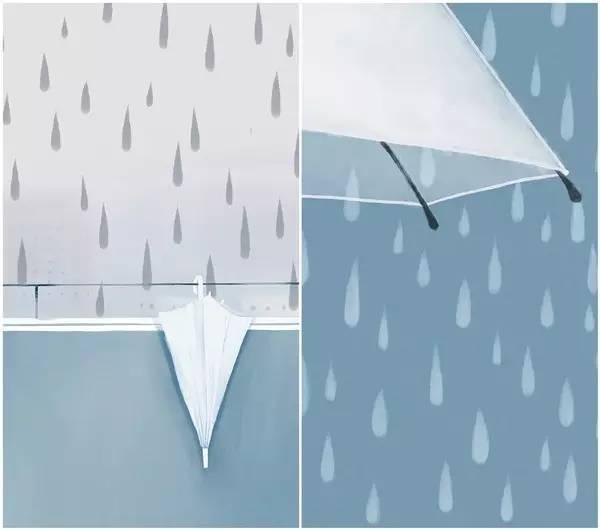 以雨为主题的插画