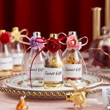 香槟酒瓶喜糖盒子创意婚礼塑料ins亚克力瓶子预售