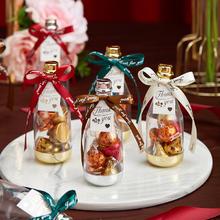 酒瓶喜糖盒子创意婚礼塑料盒ins亚克力瓶子回礼预售