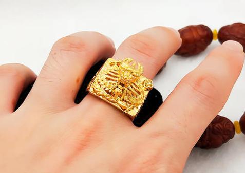 黄金男士戒指款式