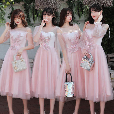 春夏简单大方仙气姐妹团显瘦伴娘服