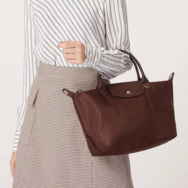 Longchamp牛皮单肩包