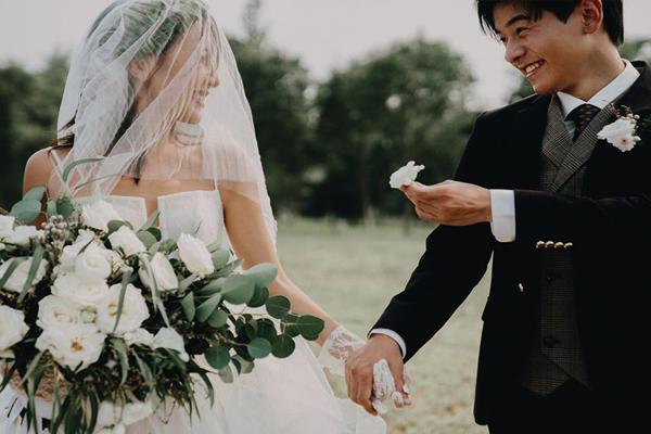 旅行结婚照片