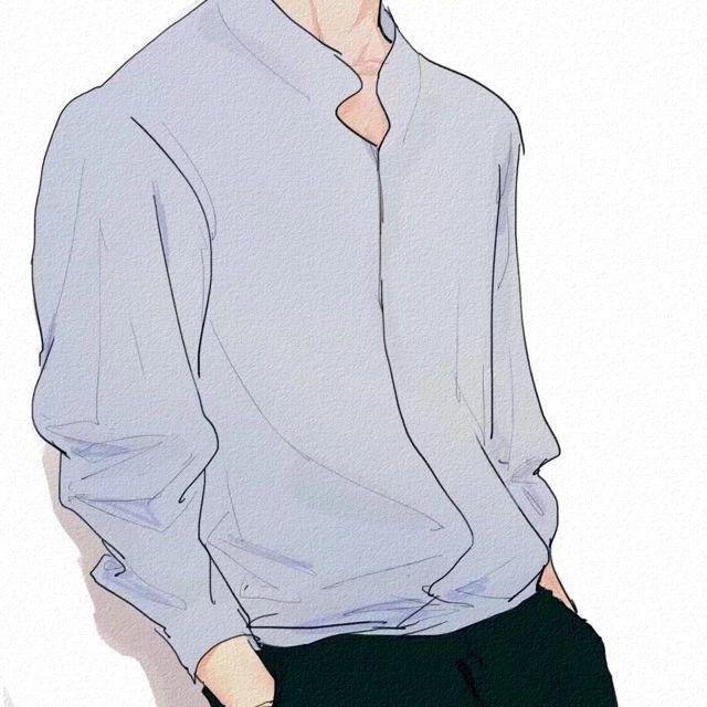 穿白衬衫的男生头像