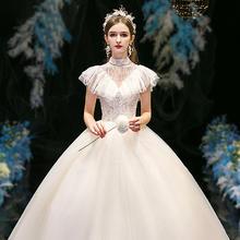 法式超仙梦幻豪华奢侈V领婚纱•送三件套