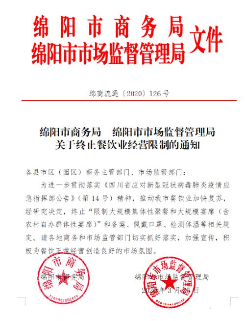 绵阳市商务局绵阳市市场监督管理局文件