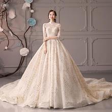中式立领超仙梦幻奢华婚纱•送三件套