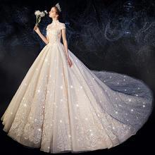 法式梦幻唯美奢华显瘦婚纱•送三件套