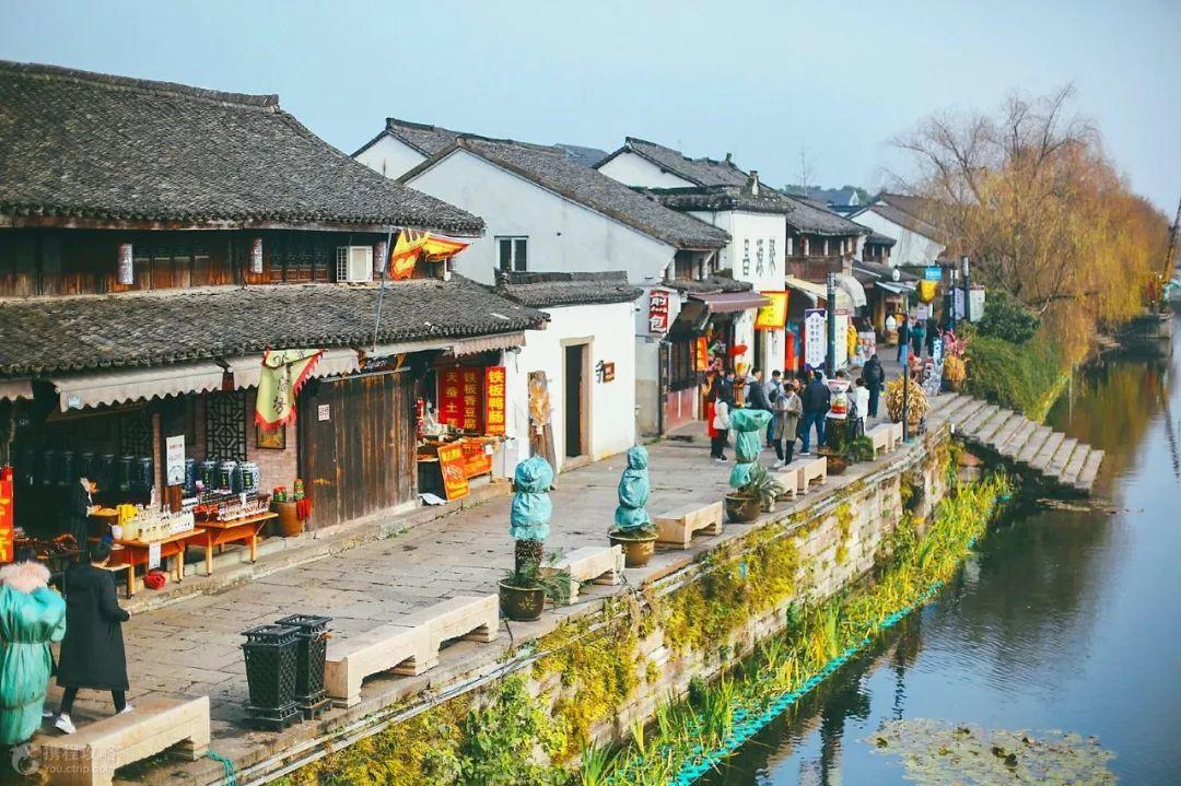塘栖古镇沿河街景