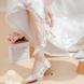 多种跟高 浪漫白色蕾丝网纱镂空婚纱鞋