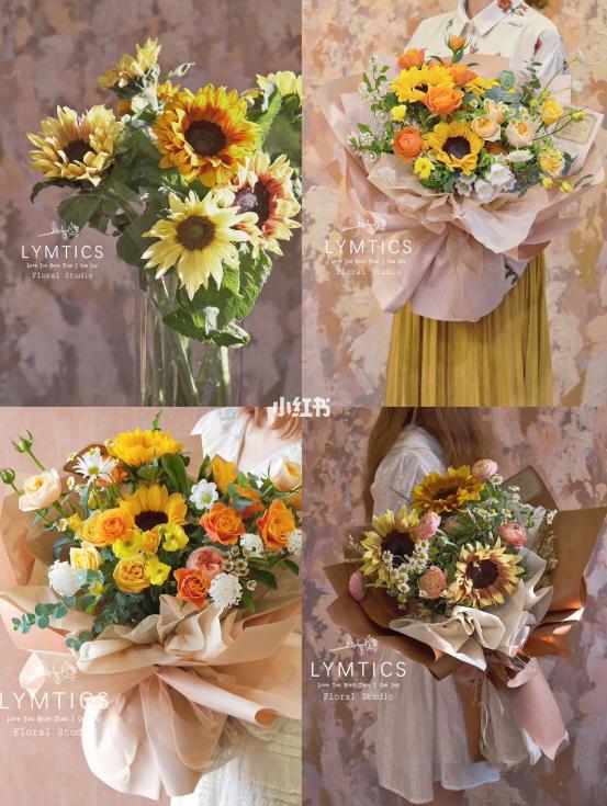 送女朋友橙黄色系花束