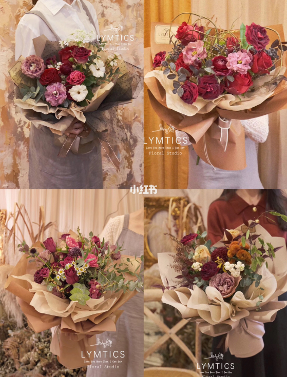 送女朋友红色系花束
