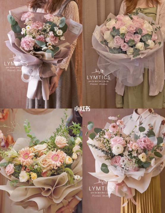 送女朋友粉色系花束