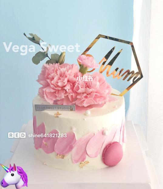 康乃馨鲜花蛋糕