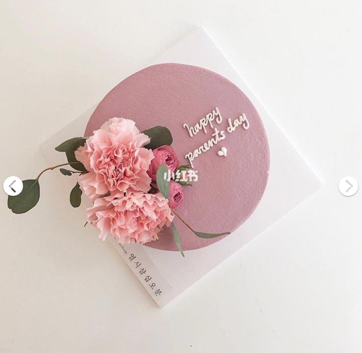 粉色系鲜花蛋糕
