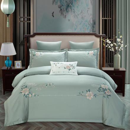 新中式中国风60支全棉刺绣长绒棉绣花四件套床品