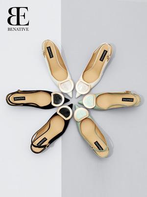 【整形医生同款】BENATIVE/本那5.5cm尖头后空凉鞋