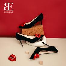 【杨菲洋联名红唇鞋】BENATIVE/本那 性感尖头细跟婚鞋