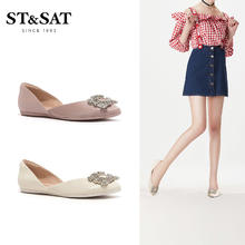 ST&SAT/星期六单鞋圆头浅口一脚蹬女鞋子