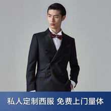 【免费上门量体】轻奢系列进口羊毛黑色礼服款定制西服套装