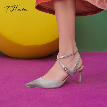 73Hours女鞋Cara凉鞋2020年新款仙女风高跟鞋