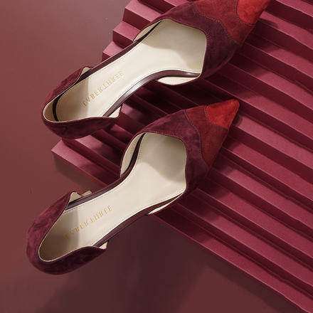 Laber Three紅色仙女高跟鞋細跟新娘秀禾婚鞋