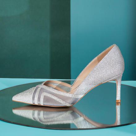 Laber Three仙女单鞋镂空水钻婚鞋婚纱高跟鞋