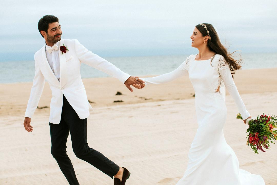 海边婚纱照