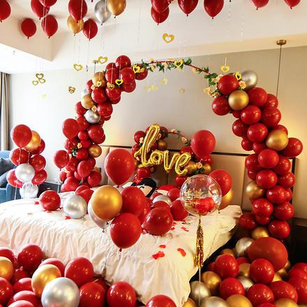 婚房装饰结婚气球套餐创意浪漫新房网红婚房