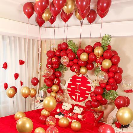 婚房装饰结婚气球套餐创意浪漫新房布置