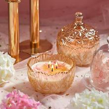 永生花玻璃杯香薰蜡烛