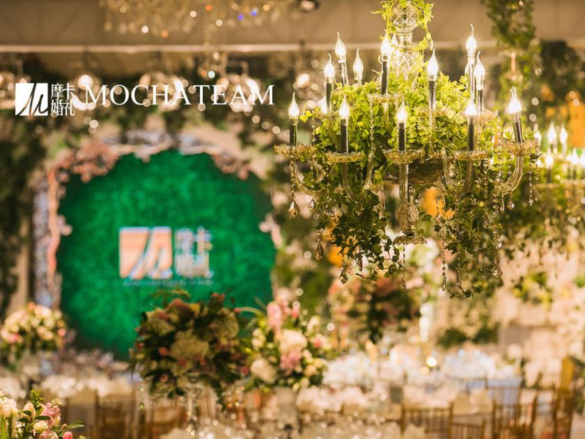 摩卡婚礼为李茂夫妇布置的婚礼现场