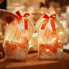 小红书ins风婚礼橙意满满提篮伴手礼