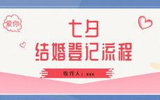 七夕结婚登记流程