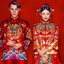 中式复古婚纱照拍内景还是外景