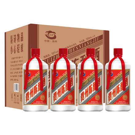 【整箱装】贵州茅台镇贵州陈酿怀露52度500ml*4瓶