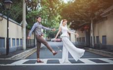 街拍婚纱照的拍摄技巧
