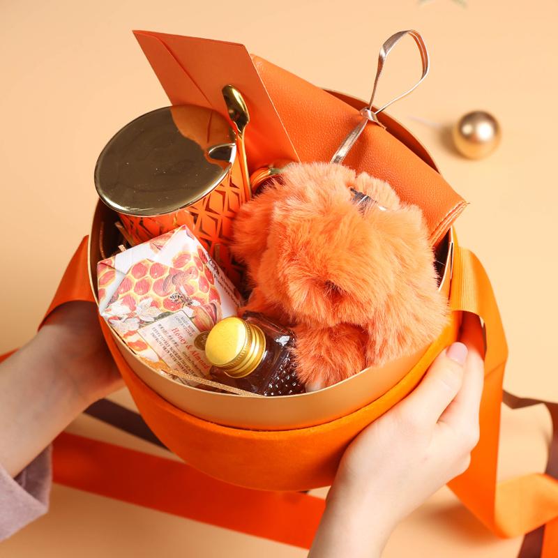 橙心如意高端圆桶伴娘伴手礼