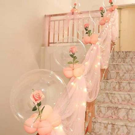 樓梯紗幔拉花套裝