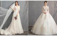 160穿齊地婚紗還是拖尾哪個好